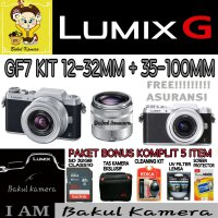 (Best Deals) PANASONIC LUMIX DMC GF7 KIT 12-32MM + 35-100MM / DMC GF7 DOUBLE LENS