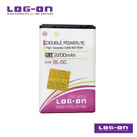 LOG-ON Battery For Nokia 130 / BL-5C - 2200 mAh DoublePower & IC - Garansi 3 Bulan