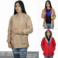 JAKET PARKA LADIES WOMEN PARKA OUTDOOR BAHAN MAYER IMPORT DOUBLE SIDE