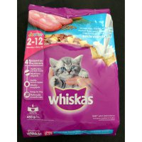 Makanan Kucing Whiskas Junior Ocean Fish Flavor With Milk 450 g