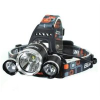 Headlamp Senter Kepala High Power Cree XM-L T6 - Black (battery not included)