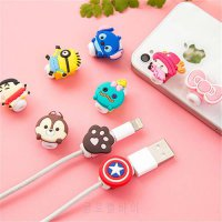 [globalbuy] 1pc Cute Lovely Cartoon 8 Pin Cable Protector USB Cable Winder Cover Case Shel/5176607