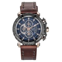 Alexandre Christie 6439 MCLDBWBZGD - Jam Tangan Pria - Leather Strap
