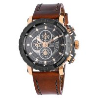 Alexandre Christie 6439 MCLDBWRGB - Jam Tangan Pria - Leather Strap