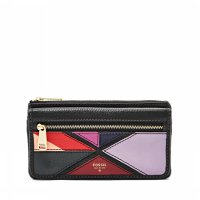 Fossil Wallet Preston Patchwork Flap Multi