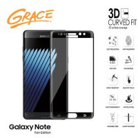 Grace Samsung Galaxy Note FE / Fan Edition - 5.7 inch Tempered Glass - 3D Curved Full Cover - Hitam
