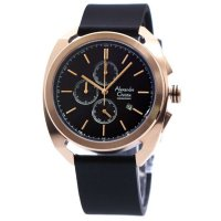 Alexandre Christie 6424 MCLFRGBL - Jam Tangan Pria - Leather Strap