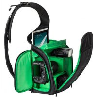 Tas Kamera SLR Sling Camera DSLR Backpack Bag - Green