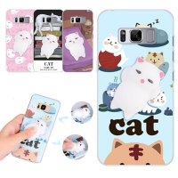 """Squishy Case 3D Cat Finger Pinch Toy Soft TPU Cover For Samsung Galaxy S8 5.8"""""""