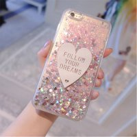 [globalbuy] Mobile phone shell transparent glitter phone case quicksand flowing liquid pro/5423512