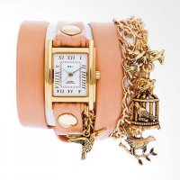 La Mer Collections LMCW6002 Bird Cage Charms Jam Tangan Wanita Gold