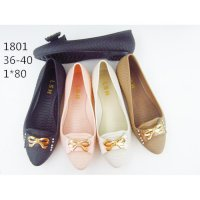Sepatu Flat Wanita - Ribbon Jelly Shoes Gold - Flat Shoes