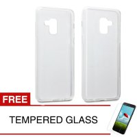 Case for Samsung Galaxy A8 2018 / A530F - Clear + Gratis Tempered Glass - Ultra Thin Soft Case