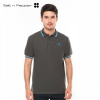 Salt n Pepper Polo Shirt Pria SNP 006 - Grey