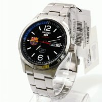 Seiko 5 Sports Mens SRP301K1 | Jam Tangan Pria SRP301 Silver Stainless Automatic FC Barcelona.