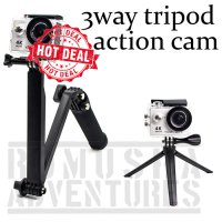 3 WAY TONGSIS TRIPOD MONOPOD FOLDABLE EXTENSION GOPRO SJCAM XIAOMI