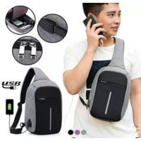 ANTI THIEF USB Tas Selempang Smart Bag Theft Anti Maling Slempang Bags SJ0104