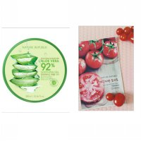 Nature Republic Soothing & Moisture Aloe Vera 92% + Sheet Mask Tomato (1pcs)