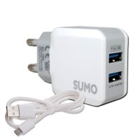 SUMO USB Charger 2.4A Dual USB | Batok Adaptor Fast Charging Carger