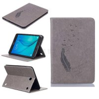 [globalbuy] 6 color feather Pattern pu Leather tablet Case For Samsung Galaxy Tab A 8.0 T3/4930425