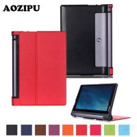 [globalbuy] Tri-fold Flip PU Leather Case Stand Protective Cover for Lenovo Yoga Tab 3 10 /4932507