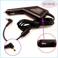 [globalbuy] 20V 2.25A Laptop Car DC Adapter Charger Power + USB For Lenovo IdeaPad 100S 80/4949038