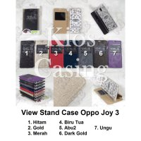 Oppo Joy 3 - Flip Cover View Stand Case Casing Sarung