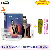 Eleaf iStick Pico S 100W Vaporizer with ELLO Vate Kit 21700 battery - Silver