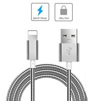 Cable Data Metal Fast Charging for Iphone 5 / 6 Aluminium Metalik - Silver