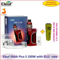 Eleaf iStick Pico S 100W Vaporizer with ELLO Vate Kit 21700 battery - Red