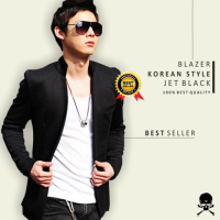 [Crows Denim] BLAZER KOREA BLACK STYLE BK-02