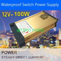 12V 100W Waterproof LED Strip lighting Switch light Power Supply AW63