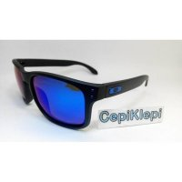 kacamata Oakle** Holbrook Black W/ Blue Lens (Polarized)