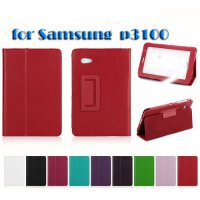 [globalbuy] Folio PU Leather Case Cover Stand For Samsung Galaxy Tab 2 7.0 P3100 P3110 Tab/5502136