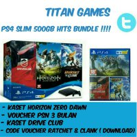 PS4 Slim 500GB CUH 2006A Hits Bundle ( 3 Games & Psn Plus 3bulan)