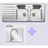 Paket BLANCO LANTOS 8 S-IF Compact Stainless Steel sink +