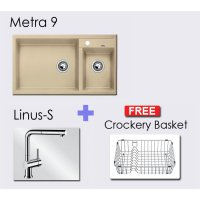 Paket BLANCO METRA 9 Granite composite sink in + Linus-S