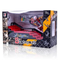 [globalbuy] 1Pcs Mini Finger Skateboard Fingerboard Toys Ramps Park for Professional Finge/3149717