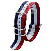 [poledit] YISUYA 20mm Nylon Striped Blue /White/Red France Flag Color Replacement Watch St/13613770
