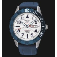 Seiko 5 Sports SRP785K1 Automatic White Dial Blue Rubber Strap Limited