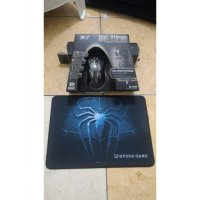 paket mousepad mouse a4tech x7 xl747h macro gaming motif spider