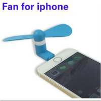 Lightning Port 8 Pin Mini Kipas Angin Portable USB Fan for iPhone 5 6 SJ0052