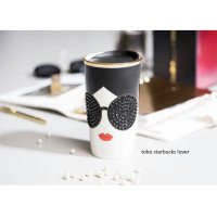 Starbucks Tumbler Double Wall Ceramic Tall 'Swarovski Alice n Olivia'