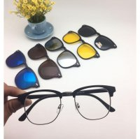 Murah Frame Kaca Mata Clip On Free 5 Lensa Sunglasses Best Seller Model A