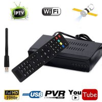 [globalbuy] FTA HD/SD Audio 1080P DVB-S2 Satellite + IPTV m3u Combo Receiver TV Tuner PVR /5537452