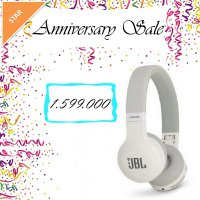 JBL Wireless On-Ear Headphone E45BT - Putih