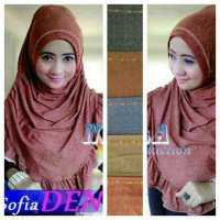 Jilbab Instan Sofia Denim / Syria Denim /Sophia Denim SJ0035