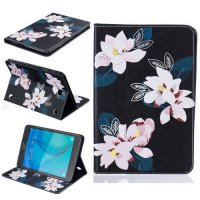 [globalbuy] Flower Painting Stand Flip Pu Leather Case For Samsung Galaxy Tab A 8.0 T350 T/4956354