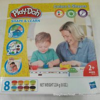 PLAY DOH SHAPE & LEARN COLORS AND SHAPES