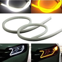 OTOmobil DRL IN LED Alis Audi Style Flexible Strip Soft Light Sein Orange